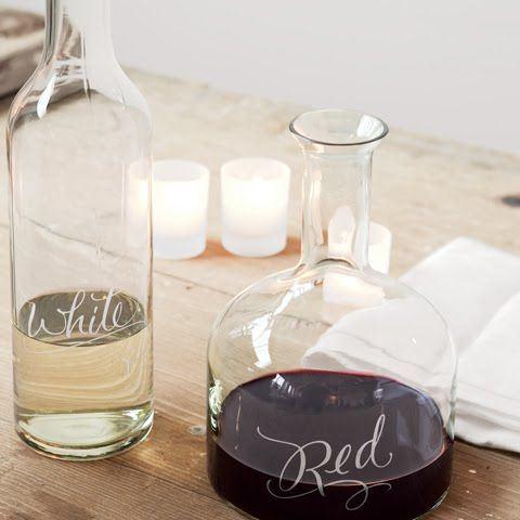 Επιλέξτε ένα όμορφο μπουκάλι για να σερβίρετε το κρασί σας