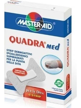 Master Aid Quadra Med Finger Λευκός Αυτοκόλλητος Μικροεπίδεσμος Δακτύλου 6 Strip