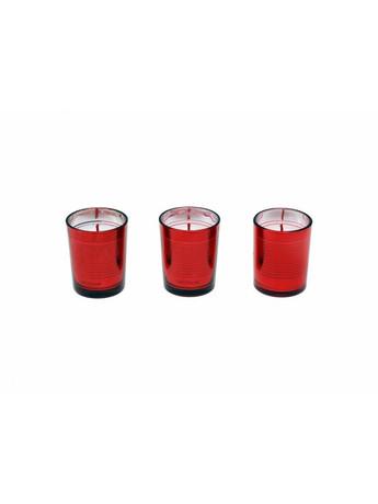 Σετ 3 τμχ Κερί Κόκκινο S&P Circa - Salt & Pepper
