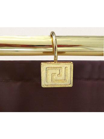 Κρίκοι Κουρτίνας Μπάνιου (12 Τμχ) San Lorentzo Brass Greek Key
