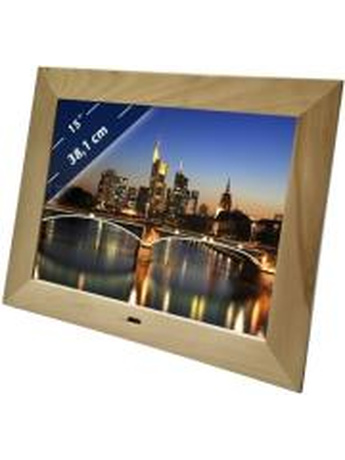 BRAUN DIGIFRAME 1587 15'' PHOTO FRAME WITH SPEAKER BEECH