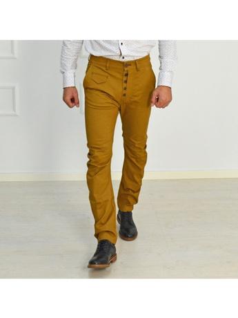 GioS κάμελ υφασμάτινο παντελόνι 6727W16