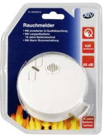 REV SMOKE DETECTOR WITH LONG LIFE BATTERY