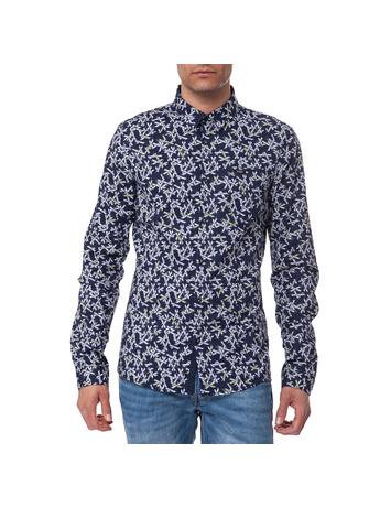 GUESS - Ανδρικό πουκάμισο Guess μπλε