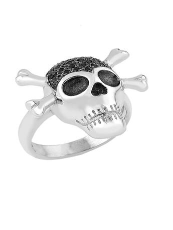 Δαχτυλίδι από ασήμι με νεκροκεφαλή