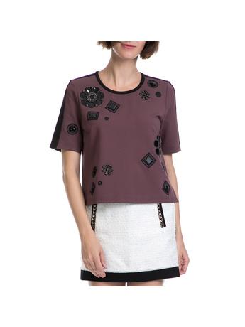 JUICY COUTURE - Γυναικεία μπλούζα JUICY COUTURE μοβ