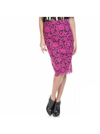 JUICY COUTURE - Γυναικεία φούστα BUCHAREST FLORAL LACE φούξια