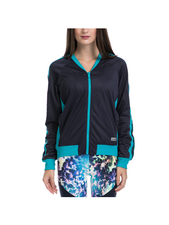 JUICY COUTURE - Γυναικείο τζάκετ SPT COLORBLOCKED TRICOT JACKET μπλε