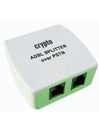 CRYPTO ADSL SPLITTER OVER PSTN