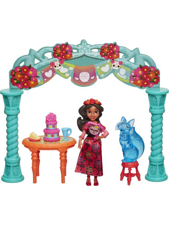 Disney Princess Elena Of Avalor Small Doll & Scene-3 Σχέδια (C0383)
