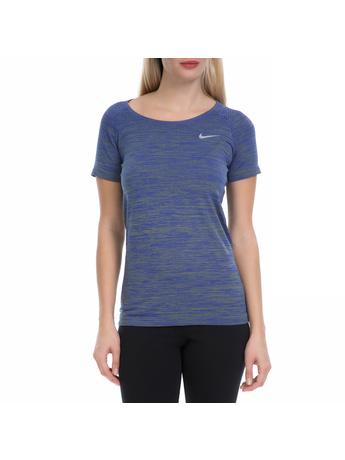 NIKE - Γυναικεία αθλητική μπλούζα NΙKΕ DF KNIT TOP μπλε-πράσινο