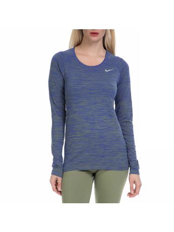 NIKE - Γυναικεία αθλητική μπλούζα NΙKΕ DF KNIT TOP μπλε-πράσινη