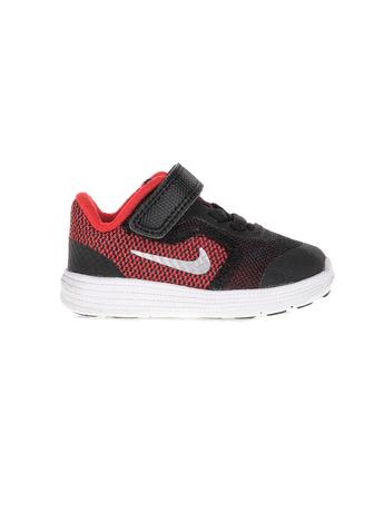 NIKE - Βρεφικά παπούτσια NIKE REVOLUTION 3 μαύρα - κόκκινα