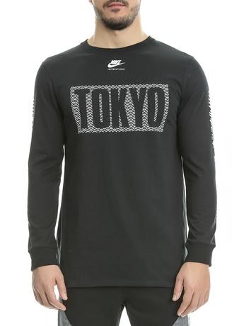 NIKE - Ανδρικό φούτερ Nike μαύρο με στάμπα
