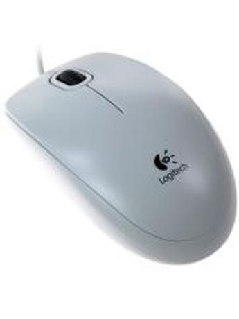 LOGITECH B100 OPTICAL USB MOUSE WHITE