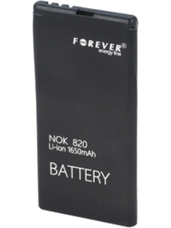 FOREVER BATTERY FOR NOKIA LUMIA 820 1650MAH LI-ION HIGH CAPACITY