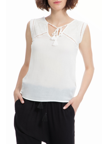 40-WEFT - Γυναικεία μπλούζα 40-WEFT λευκή