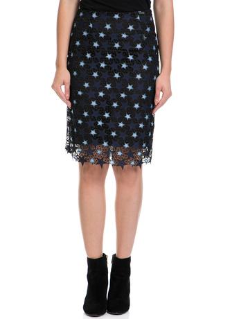 GUESS - Γυναικεία φούστα LIETTA GUESS μαύρη-μπλε