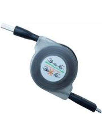 CREEV MU-200RL MICRO USB TO USB RETRACTABLE LED CABLE 17CM BLUE