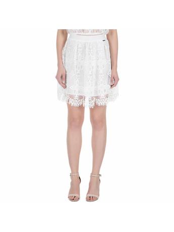 GUESS - Φούστα GUESS MALIA λευκή