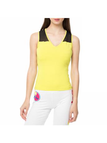 BODYTALK - Γυναικεία αμάνικη μπλούζα WAGW κίτρινη