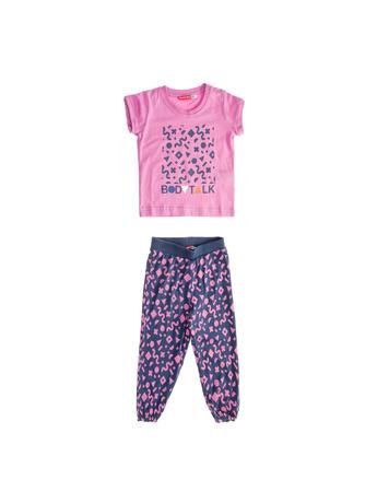 BODYTALK - Παιδικό σετ μπλούζα - παντελόνι για κορίτσια BODYTALK γκρι-ροζ 7d8d10d8a15
