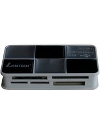 LAMTECH ALL IN 1 CARD READER USB2.0 BLACK/SILVER