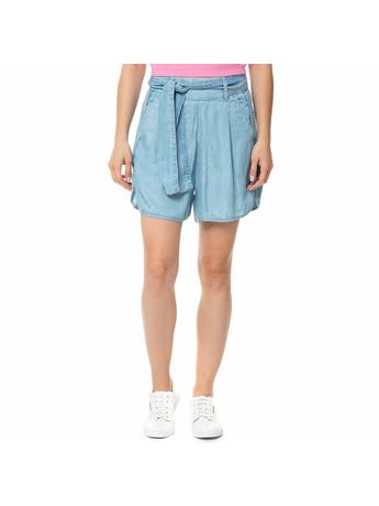 GUESS - Γυναικεία τζιν βερμούδα GUESS SUNNY γαλάζια με ζώνη