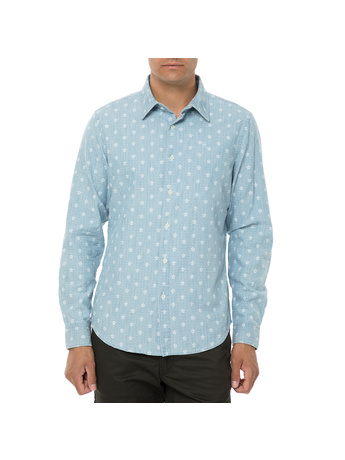 G-STAR RAW - Ανδρικό μακρυμάνικο πουκάμισο G-STAR RAW Core γαλάζιο με