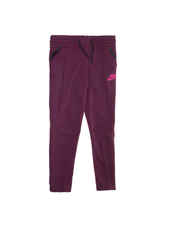 NIKE - Κοριτσίστικο παντελόνι φόρμας Nike TCH FLC μοβ-ροζ