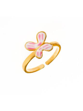 01d9de39d7a Παιδικό μοντέρνο δαχτυλίδι από επιχρυσωμένο ασήμι με στοιχείο από σμάλτο