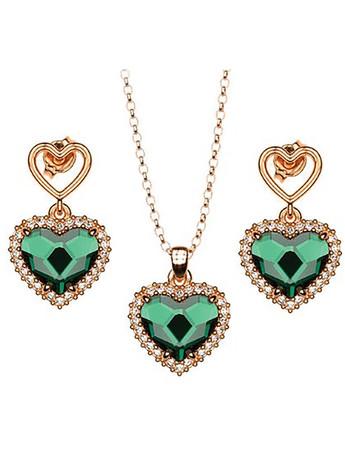 Σέτ κολιέ και σκουλαρίκια συλλογή Love καρδιές από ρόζ επιχρυσωμένο ασήμι 5d44ea33fbe