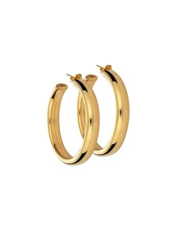 Σκουλαρίκια κρίκοι σε ασήμι 925 με χρύσωμα Κ18 SK-KR1003-02-G1 a816864a4b1