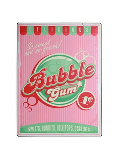 Μεταλλικός πίνακας - Bubble Gum