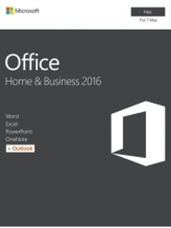 MICROSOFT OFFICE FOR MAC HOME & BUSINESS 2016 ENGLISH 1PK EUROZONE