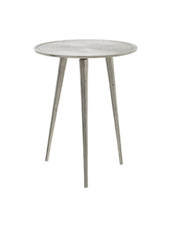 Τραπέζι Μεταλλικό Επινικελωμένο 39x39x51εκ. inart 3-50-357-0004 - inart - 3-50-357-0004