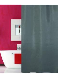 Κουρτίνα Μπάνιου (180x180) San Lorentzo Solid Grey
